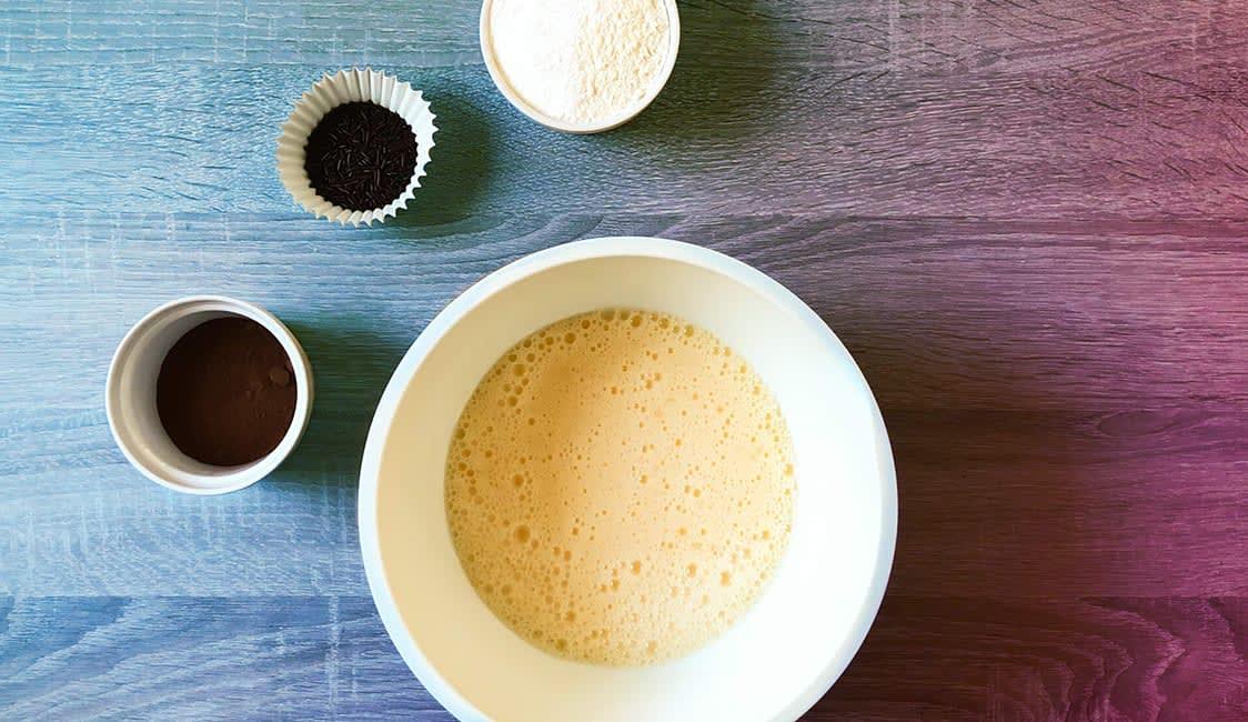 Spinnen Muffins Schritt 4