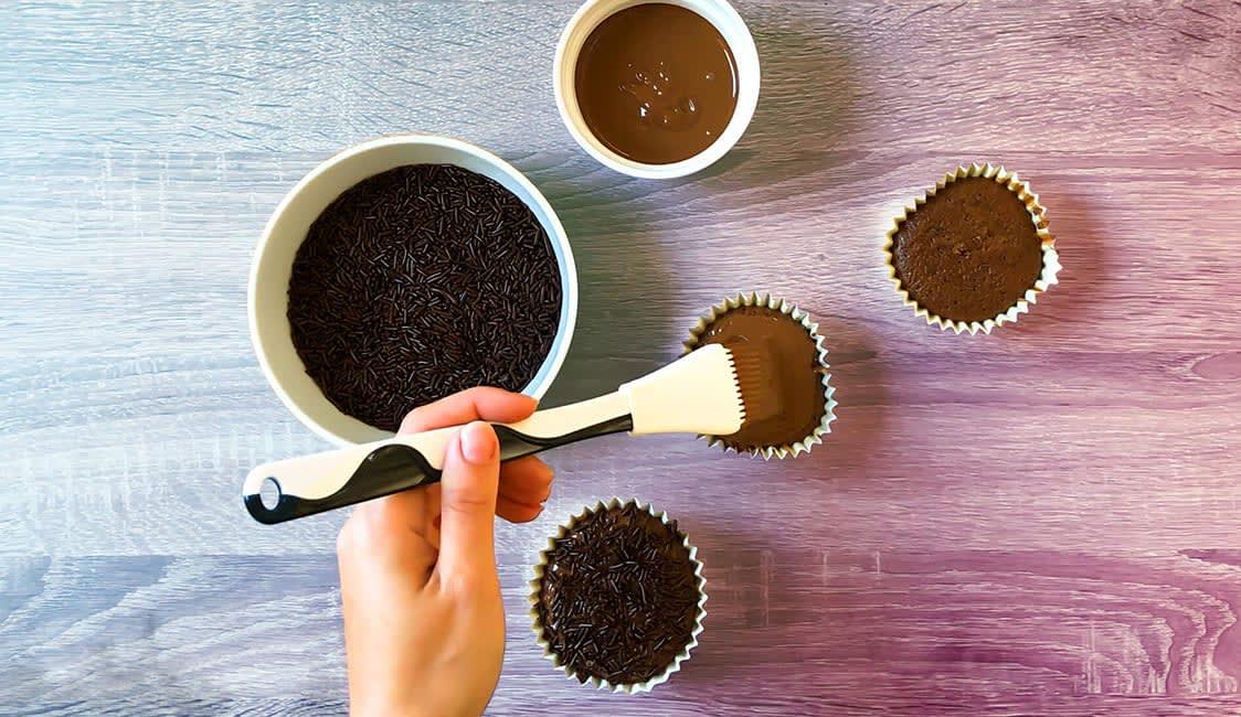 Spinnen Muffins Schritt 7
