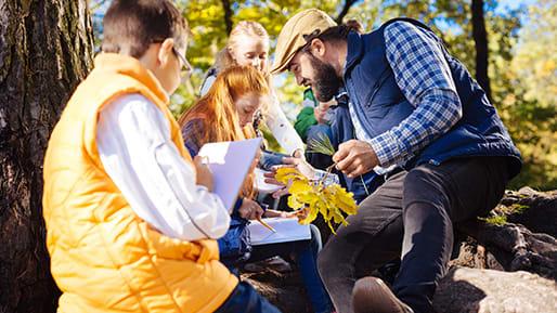 Kinder basteln Herbst-Tagebuch