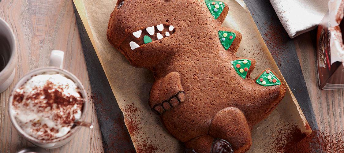 Backen für den Kindergeburtstag: Kuchen in Dino-Form
