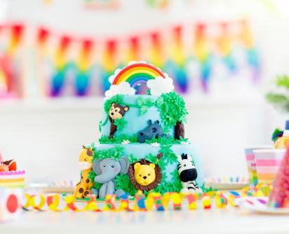 Backen für den Kindergeburtstag: Geburtstagstorte mit Tieren
