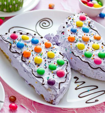 Backen für den Kindergeburtstag: Kuchen in Schmetterlingsform