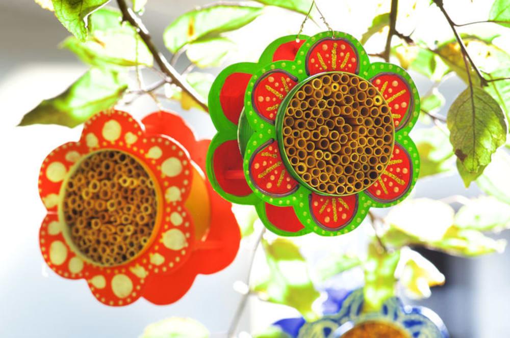 Bastelideen für den Sommer: Selbstgebastelte Insektenhotels