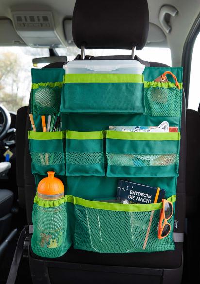Spiele im Auto: Praktische Aufbewahrungstasche am Rücksitz