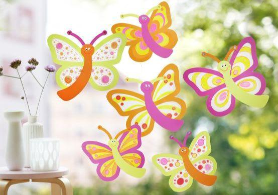Basteln im Frühling mit Kindern: Fensterbilder