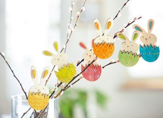 Basteln im Frühling mit Kindern: Frühlingszweige