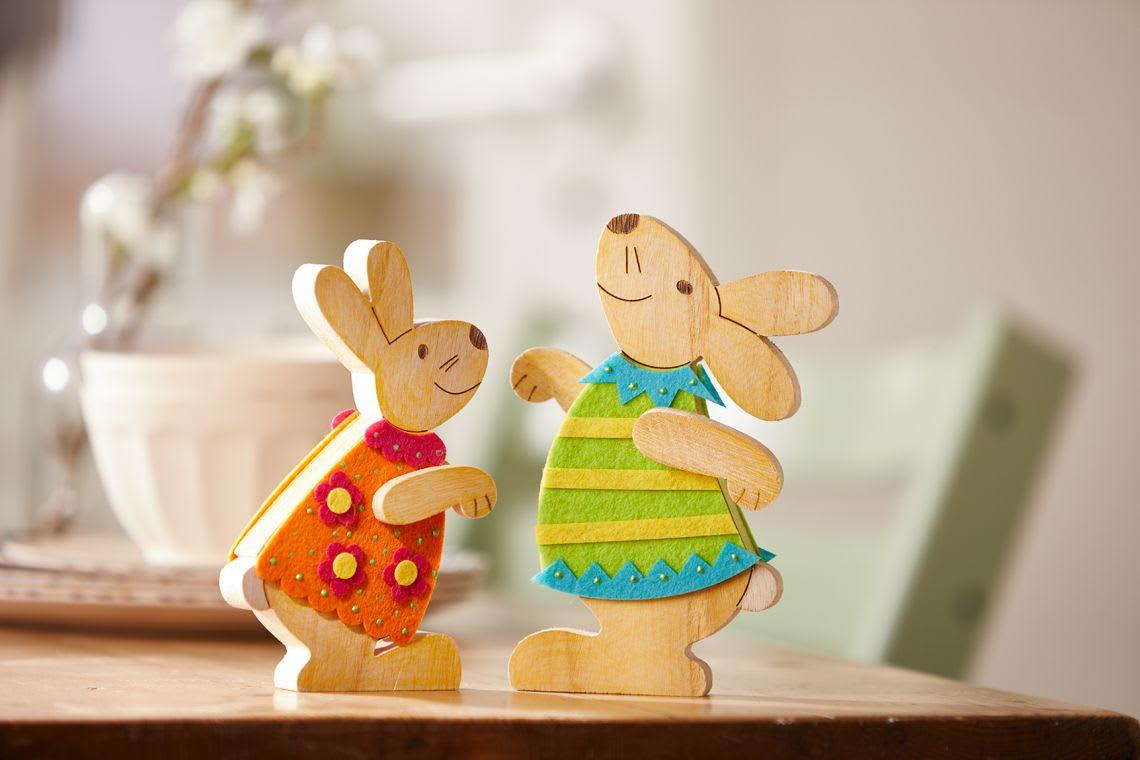 Osterhasen im Frühling basteln: Anleitung für Kinder