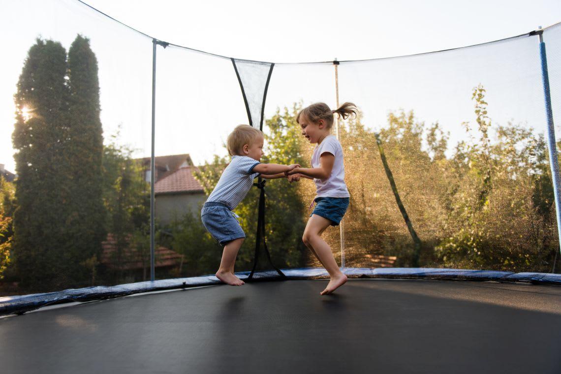 Garten-Ideen: Trampolin springen