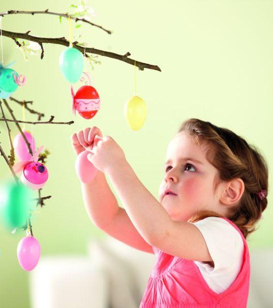 Ostereier färben mit Kindern: Osterdeko