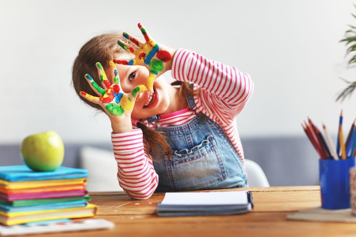 Basteln mit Kindern für Ostern: Fingerfarben-Ideen
