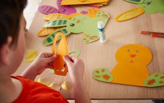 Basteln mit Kindern für Ostern: Materialien