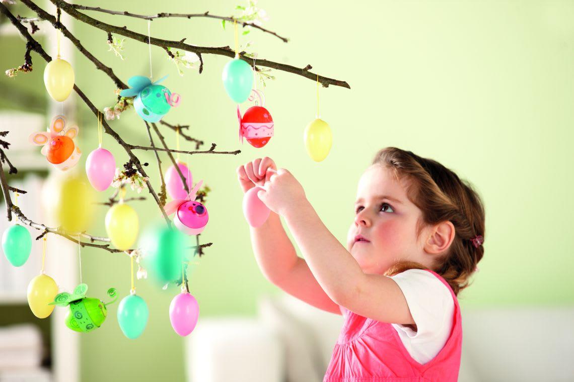 Basteln mit Kindern für Ostern: Osterdeko