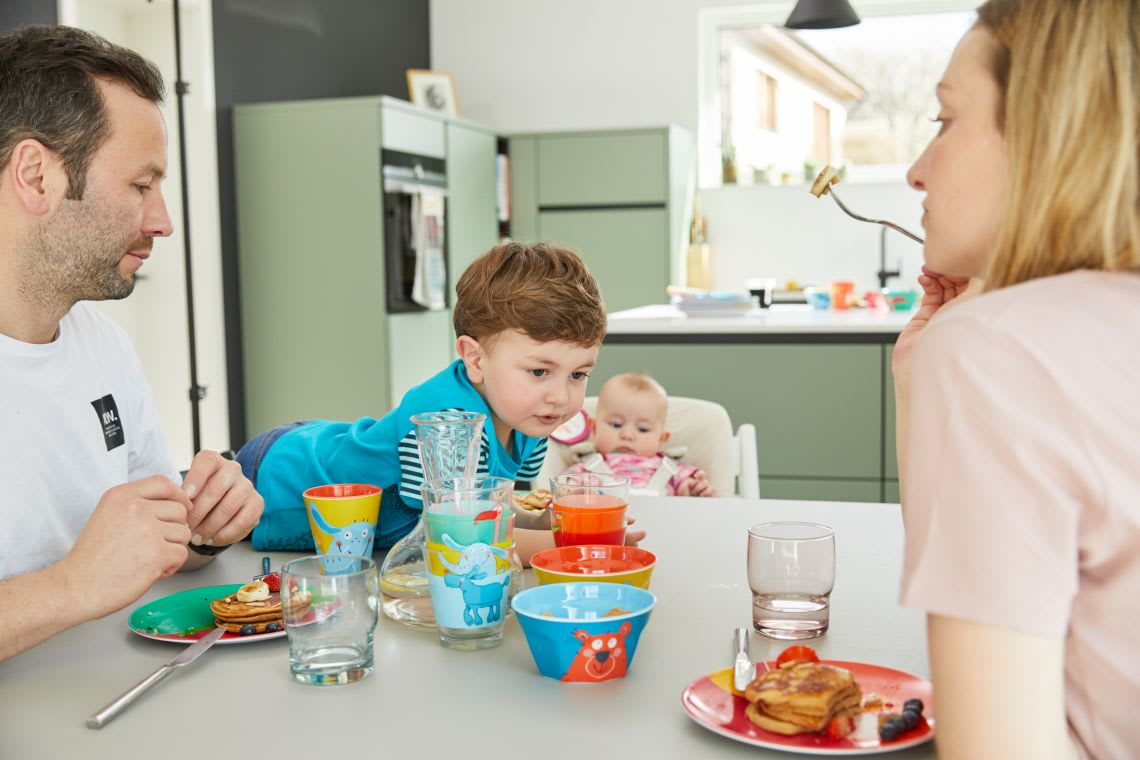 Familienzusammenhalt: Gemeinsames Frühstück