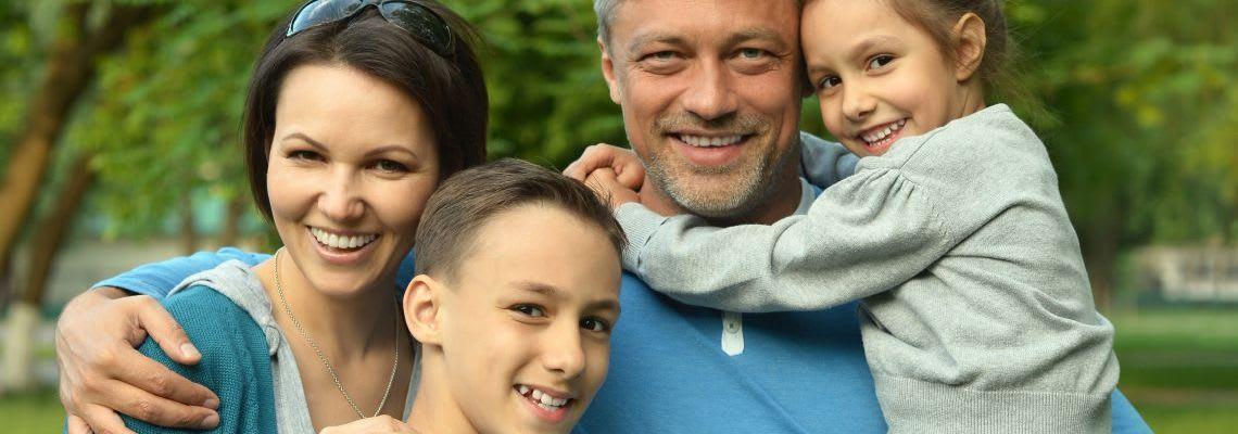 Familienzusammenhalt: Patchworkfamilie