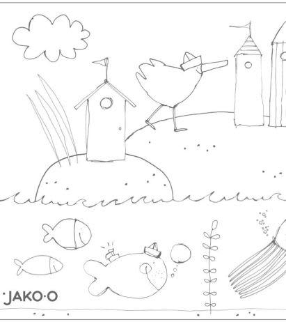 Basteln mit Kindern: JAKO-O Ausmalbild