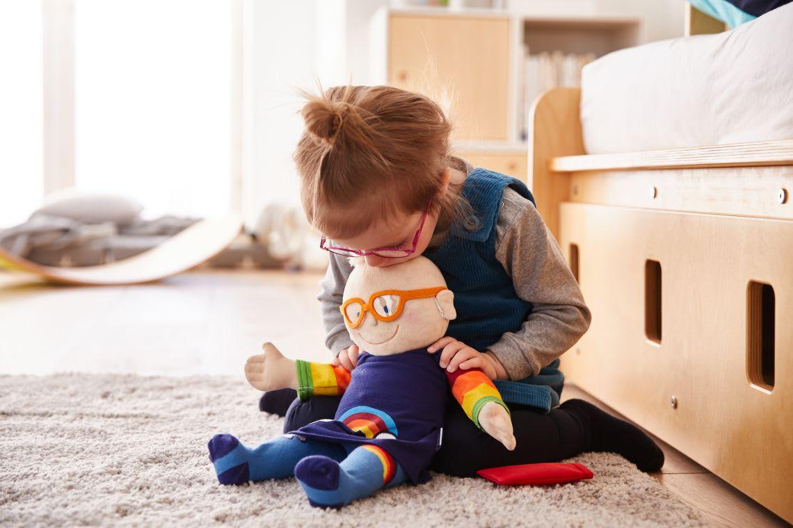 Kuscheltiere zum Einschlafen für größere Babys & Kinder: Puppe Krümel