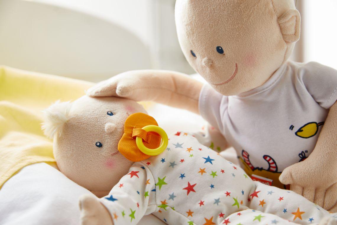 Kuscheltiere zum Einschlafen für Babys: Puppe Krümelchen