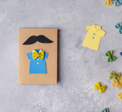 Vatertagsgeschenke basteln: Bunte Vatertagskarte