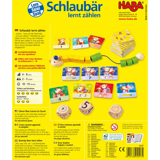 Schlaubär lernt zählen HABA 4547