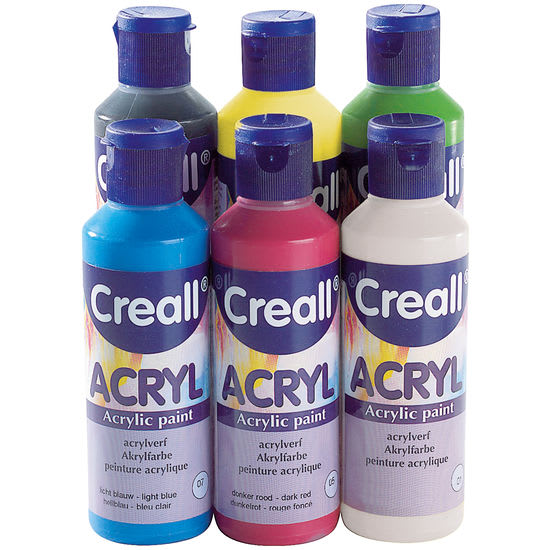 Creall-Sortiment Acryl, 6 x 80 ml
