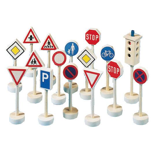 Verkehrszeichen-Set, 16 Teile