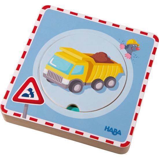 Holzpuzzle Baustellen-Spaß HABA 301648
