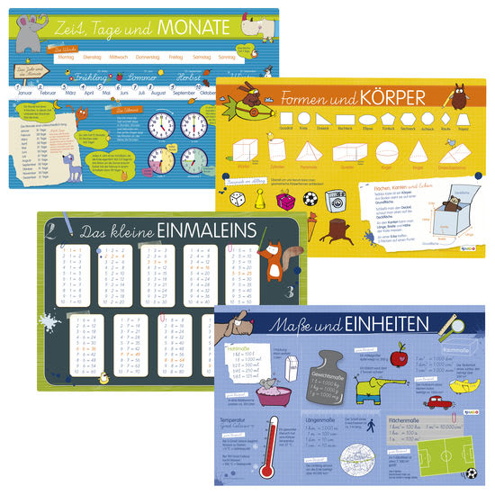 Kinder-Lern-Tischset JAKO-O, 4-teilig