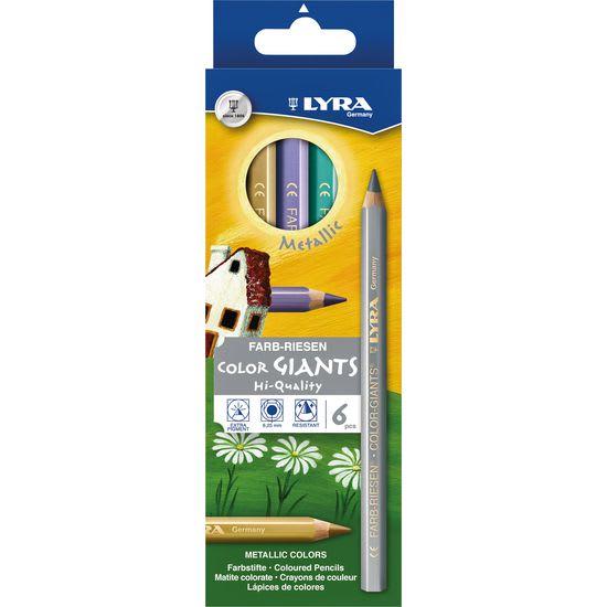 LYRA Buntstifte Farb-Riesen Metallic, 6 Farben