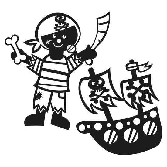 Sprühschablonen JAKO-O, 2 Stück