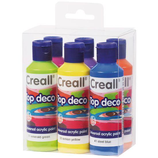 Creall-Sortiment Trendfarben, 6 Farb-Flaschen à 80 ml
