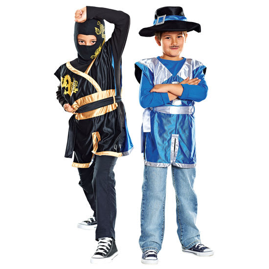 Kinder-Wendekostüm Musketier/Ninja-Kämpfer JAKO-O, 3-teilig, Größe 110-134
