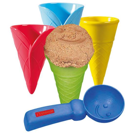 spielstabil® Sandspielzeug Eiswaffel-Set, 5-teilig