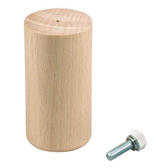 Holzfüße Rudi, hoch, natur, 4 Stück