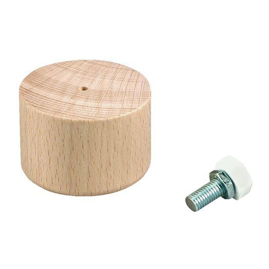 Holzfüße Rudi niedrig, natur, 4 Stück