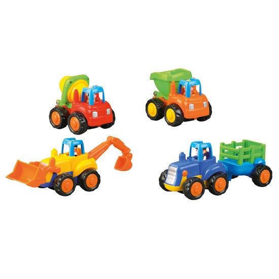 Fahrzeug-Set mit Schwungradantrieb, 4-teilig