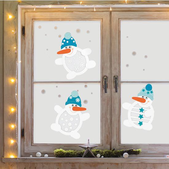 Sachenmacher Fensterbilder Schneemänner JAKO-O, Bastelset für 6 Stück