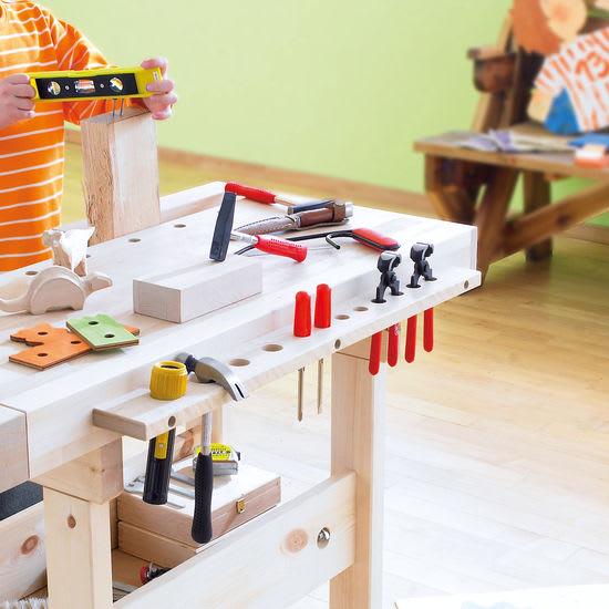 Werkzeugleiste aus Holz für Werkbank