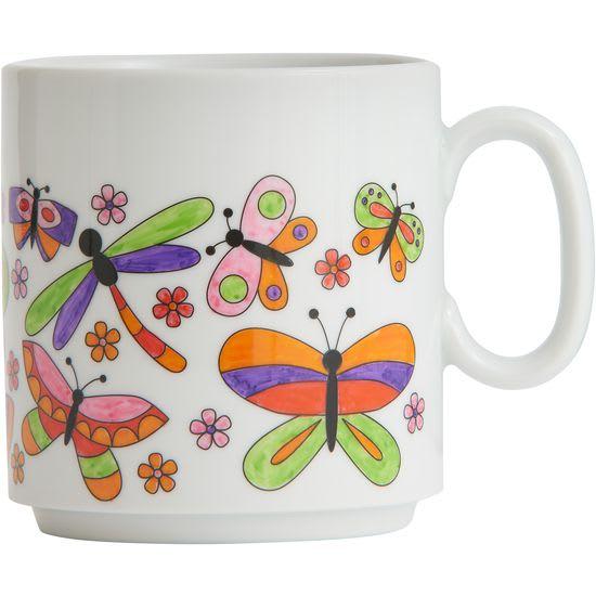 JAKO-O Ausmaltasse Schmetterlinge