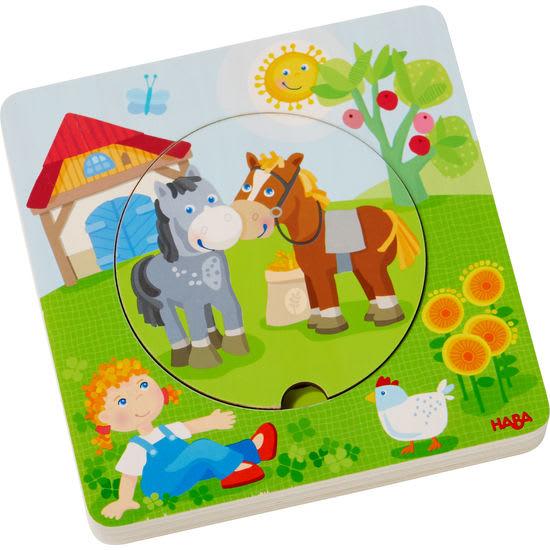 Holzpuzzle Bauernhof-Welt HABA 303768