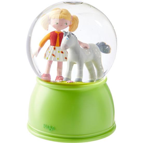 LED-Schlummerlicht-Schneekugel Pferdeglück HABA 303518