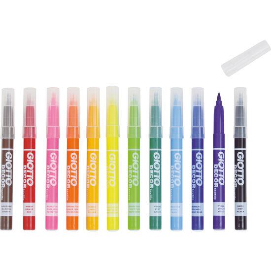 LYRA GIOTTO Decor Textilstifte Neon, 12 Farben
