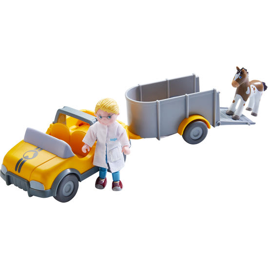 Little Friends – Tierarzt-Auto mit Anhänger HABA 303926