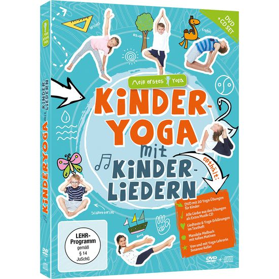 Kinder DVD-CD-Box Mein erstes Yoga: Kinder-Yoga mit Kinderliedern
