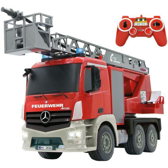 JAMARA RC Feuerwehr Drehleiter Mercedes Antos 1:20