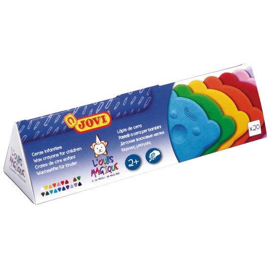 JOVI® Wachsmalstifte in Bärenform, 20 Farben
