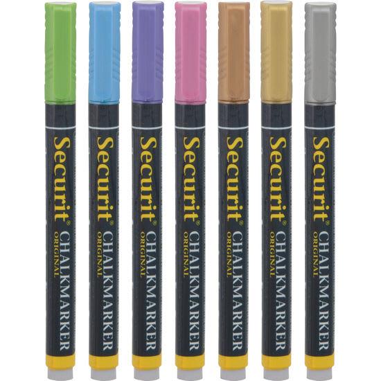 Securit® Kreidestifte-Set Metallic, 7 Farben