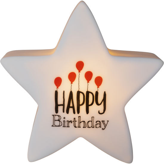 Nachtlicht LED Leuchtstern Happy Birthday