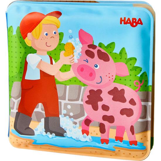 Badebuch Waschtag bei Schwein & Kuh HABA 304707