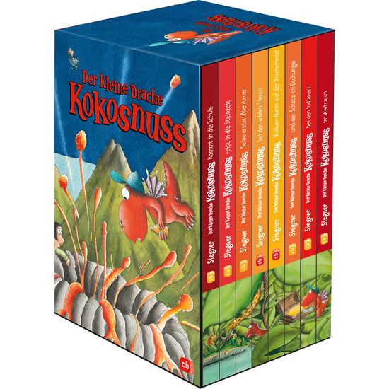 Vorlesebücher Der kleine Drache Kokosnuss, 8 Bände im Geschenkschuber