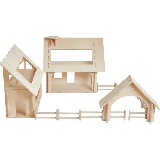 Spielhaus Bauernhof Holz, 13-teilig